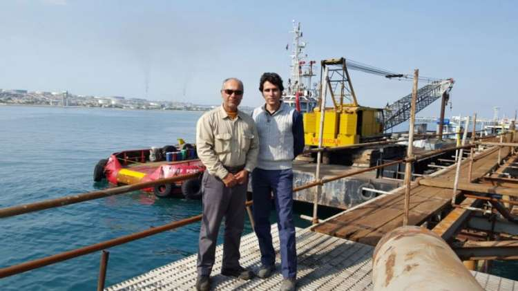 پروژه اسکه شرکت ساحل پرتو آذز